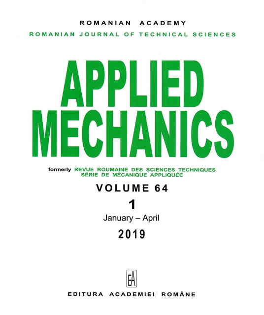 Romanian Journal of Technical Sciences cover
